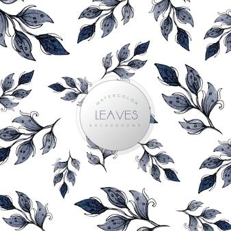 Aquarelle feuilles motif arrière-plan