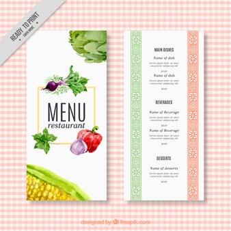 Aquarelle menu restaurant