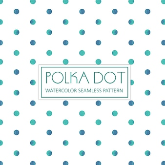 Aquarelle Polka Dot Background