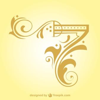Arabesque élément de conception de coin