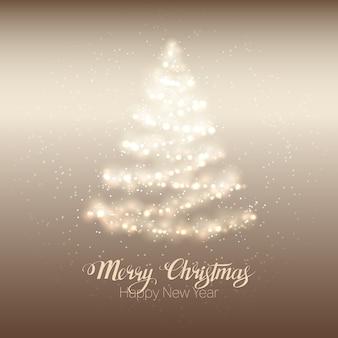 Arbre brillant de Noël