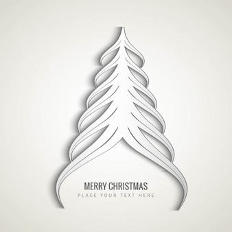 Arbre de Noël blanc abstraite