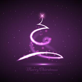 Arbre de Noël créatif avec fond violet