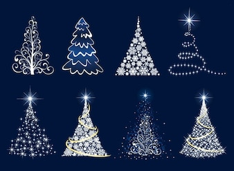 Arbre de Noël de graphiques vectoriels