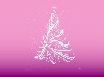 Arbre de Noël faite de rubans