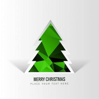 Arbre de Noël géométrique dans les tons verts