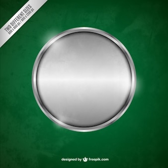 Argent cercle métallique
