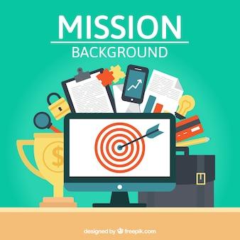 Arrière-plan avec des éléments cibles et d'affaires