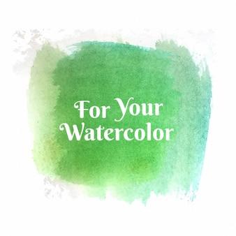 Arrière-plan avec l'aquarelle verte