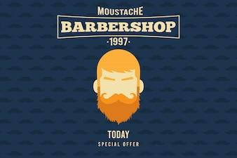Arrière-plan avec la tête d'un homme avec moustache et la barbe pour movember