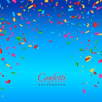 Arrière-plan avec un vecteur de confettis coloré