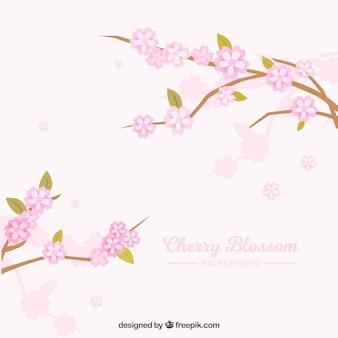 Arrière-plan de branches avec des fleurs