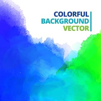 Arrière-plan de l'illustration de conception de vecteur splash encre multicolore