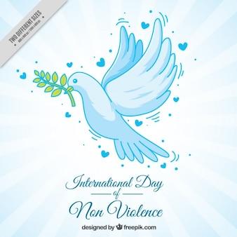 Arrière-plan de la main dessinée colombe de la paix