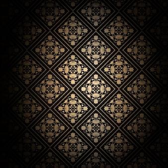 Arrière-plan décoratif en or et noir