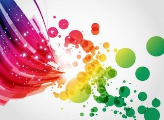 Art abstrait coloré vecteur de fond