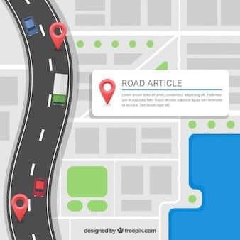 article de route modèle