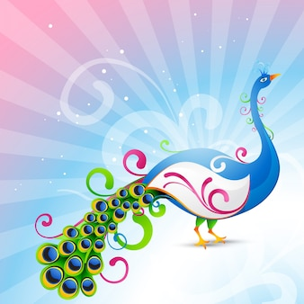 Artistique peacock vecteur