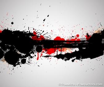 Artistique taches de sang d'arrière-plan