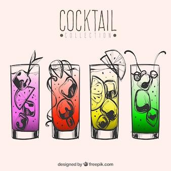 Assortiment de cocktails colorés