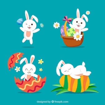Assortiment de lapins fantastiques pour le jour de Pâques