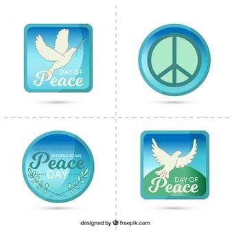 Autocollants pour célébrer la journée internationale de la paix