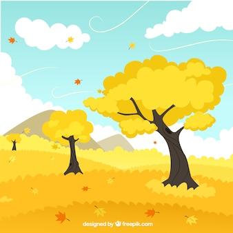 automne végétation jaune