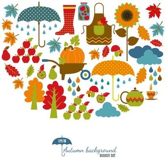 Autumn background Set élément de design