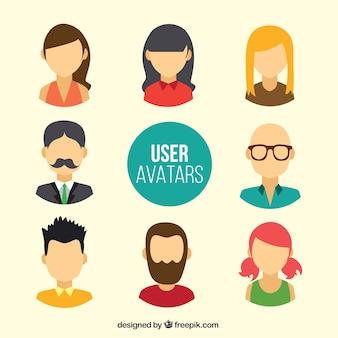 Avatars de l'utilisateur sans visage