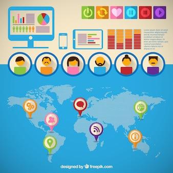 Avatars icônes infographie