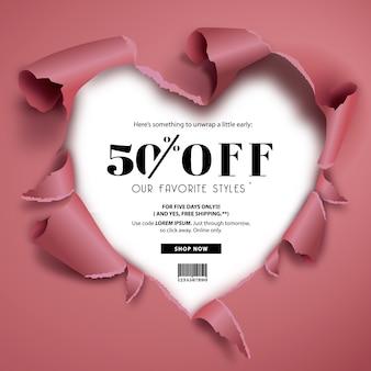 Backgorund des ventes avec design cardiaque