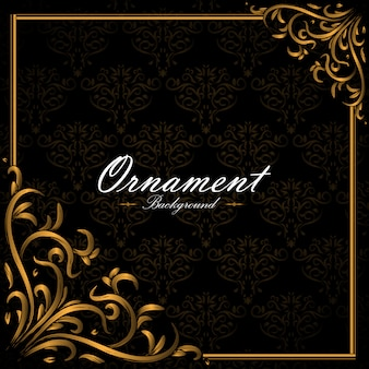 Background design ornemental