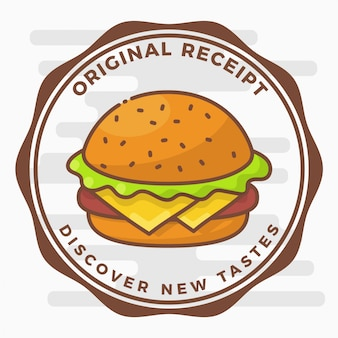 Badge Logo Hamburger