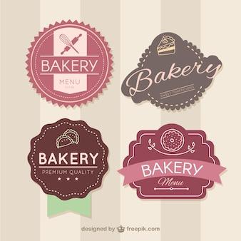 Badges de boulangerie Rétro