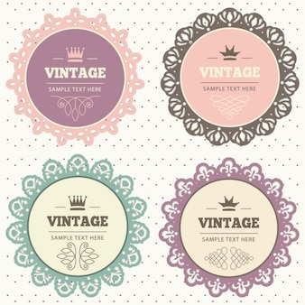 Badges de dentelle vintage set