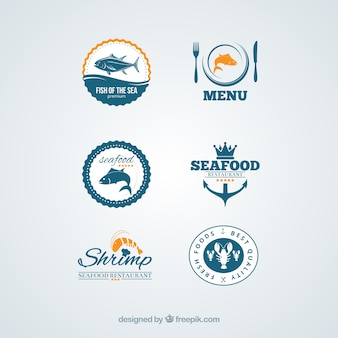 Badges de fruits de mer