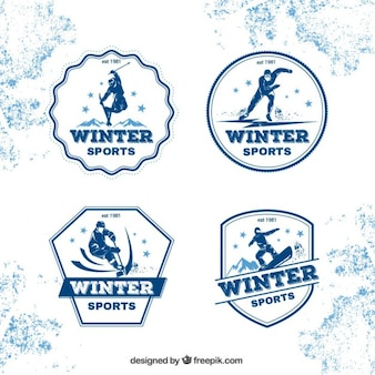 Badges de sports d'hiver