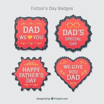 Badges rouges du jour du père