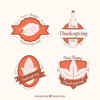 Badges thanksgiving Pretty in style vintage