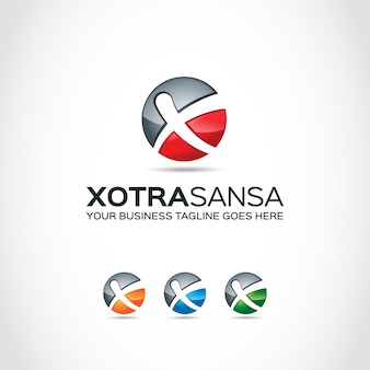 Ball avec x logo design