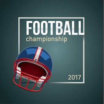 Balle de football américain 3d lieu d'objet réaliste pour le texte backg