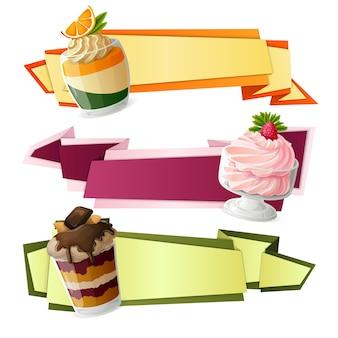 Banderoles en papier de bonbons
