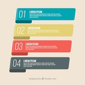 Bandes d'infographie avec design classique