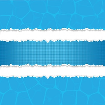 Bandes de papier déchirés bleu