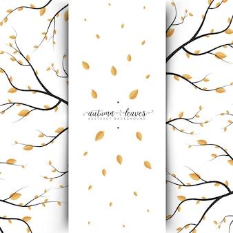 Bannière abstraite des feuilles d'automne