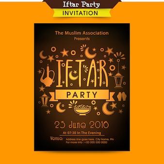 Bannière brochure flyer islamic holiday