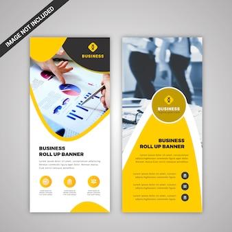 Bannière commerciale jaune et blanche