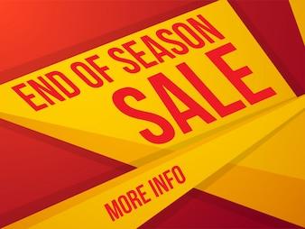 Bannière de vente de fin de saison.