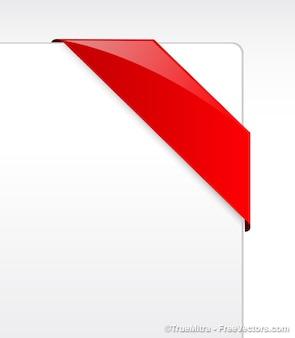 Bannière rouge ruban vecteur