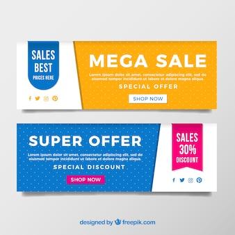 Bannières abstraites de super ventes